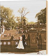 Wedding In Central Park Wood Print
