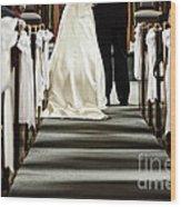 Wedding In Church Wood Print