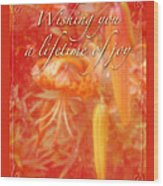 Wedding Joy Greeting Card - Turks Cap Lilies Wood Print