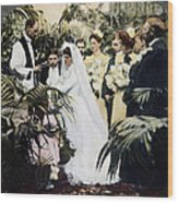 Wedding Party, 1900 Wood Print