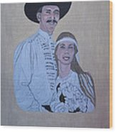 Wedding Portrait Wood Print by Elizabeth Stedman