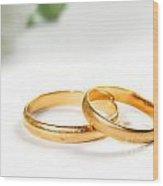 Wedding Rings Wood Print
