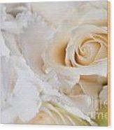Wedding White Flowers Wood Print