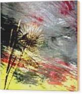 Weed Abstract Blend 2 Wood Print