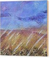 Weeds Among The Wheat Wood Print