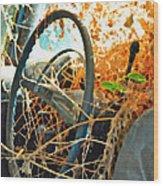 Weedy Steering Wood Print