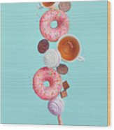 Weekend Donuts Wood Print