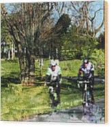Weekend Riders Wood Print