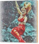 Weeki Wachee Mermaid Wood Print