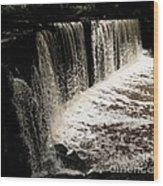 Weeping Falls Wood Print by Scott Allison