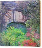 Weeping Rock At Zion National Park Wood Print