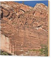 Weeping Rock In Zion National Park Wood Print