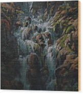 Weeping Rocks Wood Print