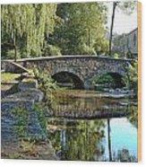 Weeping Willow Bridge Wood Print by Robert Culver