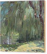 Weeping Willow Tree Wood Print