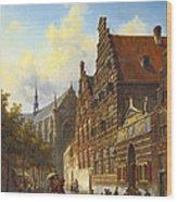 Weeshuis In Leiden Wood Print