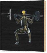 Weightlifter Wood Print