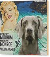 Weimaraner Art Canvas Print - River Of No Return Movie Poster Wood Print