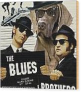 Weimaraner Art Canvas Print - The Blues Brothers Movie Poster Wood Print