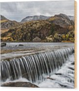 Weir At Ogwen Wood Print