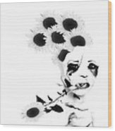 Weird Thoughts Wood Print by Theda Tammas