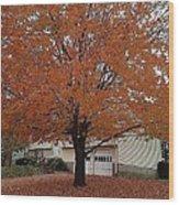 Welcome Fall Wood Print