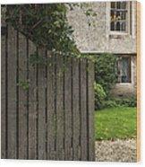 Welcome Gate Wood Print