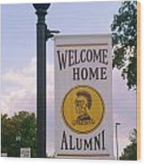 Welcome Home Banner Wood Print