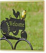 Welcome Wood Print