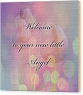 Welcome New Baby Greeting Card - Tulips Wood Print
