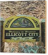 Welcome To Ellicott City Wood Print