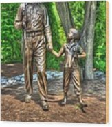 Welcome To Mayberry Wood Print by Dan Stone