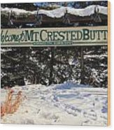 Welcome To Mt Crested Butte Wood Print