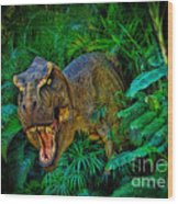 Welcome To My Park Tyrannosaurus Rex Wood Print