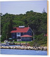 Welcome To Oak Bluffs Wood Print