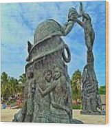 Welcome To Playa Del Carmen Mexico Wood Print