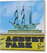 Welcome To The Asbury Park Boardwalk Wood Print