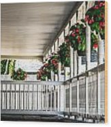 Welcoming Porch Wood Print