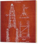 Well Drilling Apparatus Patent From 1960 - Red Wood Print