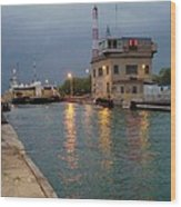 Welland Canal Locks Wood Print