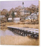 Wellfleet Golden Morn Wood Print by Karol Wyckoff
