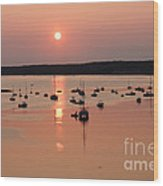 Wellfleet Harbor Sunset Wood Print