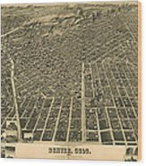 Wellge S Birdseye Map Of Denver Colorado 1889 Drawing By