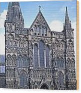 Wells Cathedral In England Wood Print