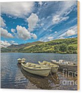 Welsh Boats Wood Print