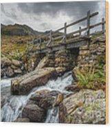 Welsh Bridge Wood Print by Adrian Evans