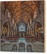 Welsh Cathedral  Wood Print