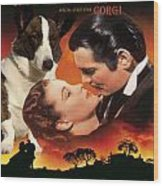 Welsh Corgi Cardigan Art Canvas Print - Gone With The Wind Movie Poster Wood Print