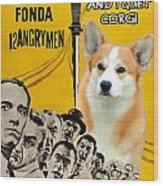 Welsh Corgi Pembroke Art Canvas Print - 12 Angry Men Movie Poster Wood Print