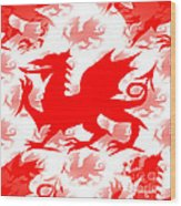 Welsh Dragon Wood Print